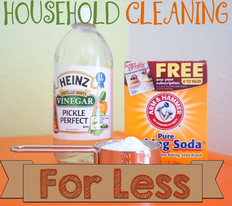 Baking soda & vinegar for cleaning