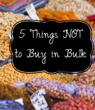 Buying food in bulk