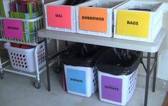 organize your yard sale