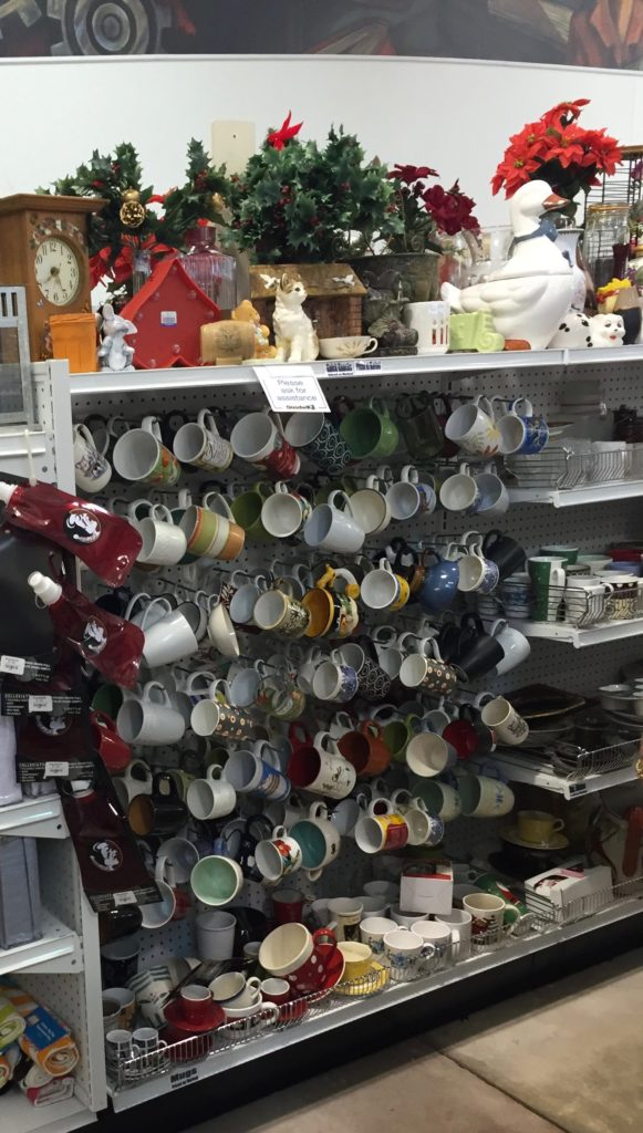 thrift store coffee mugs