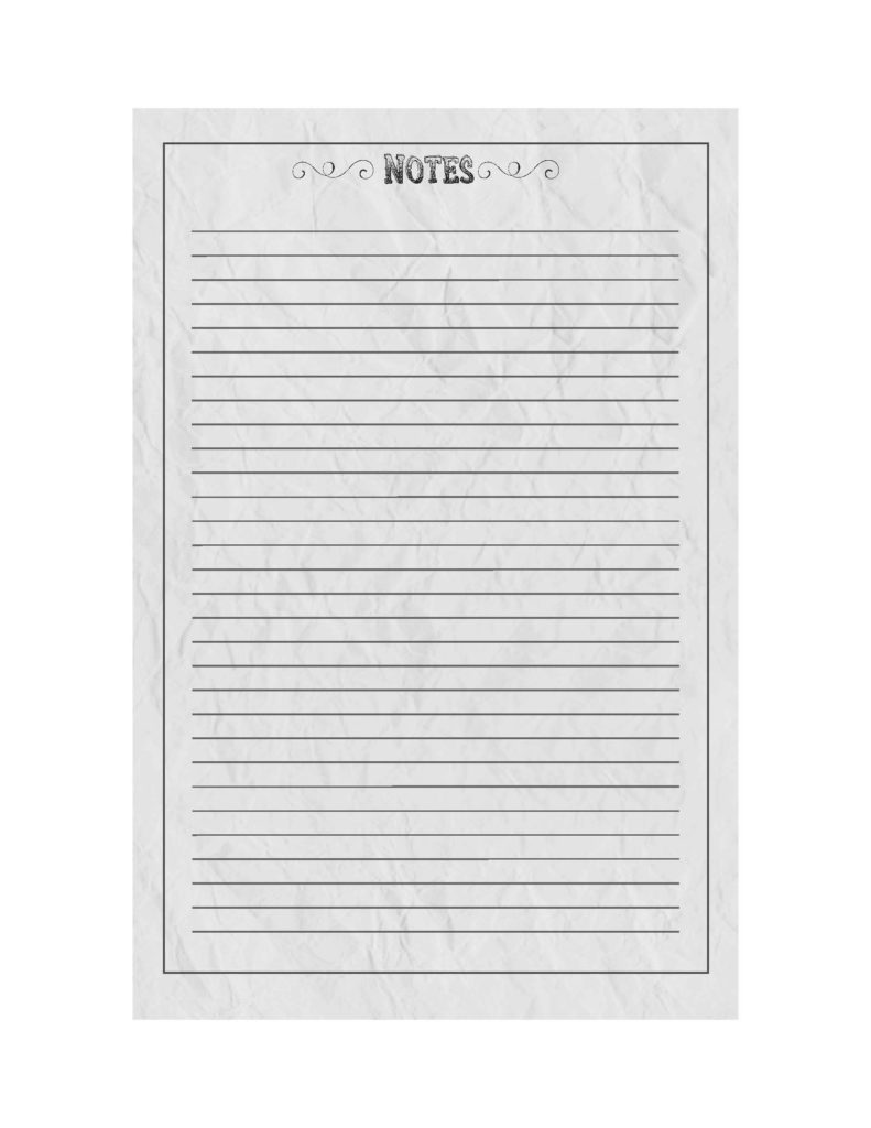 Nifty image for printable notepad