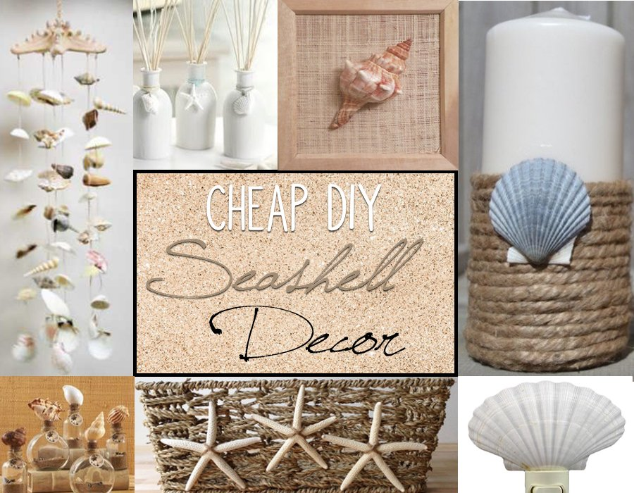 Cheap diy seashell decor prudent penny pincher for Cheap beach decorations for the home