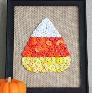 Candy Corn Button Art