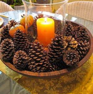 Pinecone Candle Centerpiece