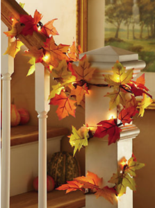 Fall Leaves Garland It Goes Great Down Stair Cases, Across Fireplace  Mantels Or Around The Frame Of Your Door. You Can Add Orange Lights In It  For A More ...