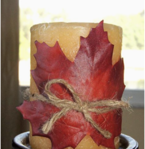 maple leaf candle