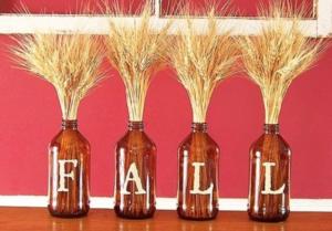 fall wheat wine glass