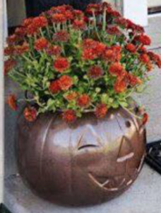 spray painted pumpkin