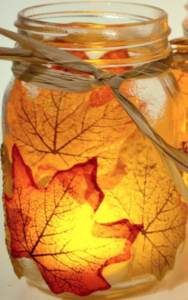 Autumn Leaf Mason Jar Maple Leaves Pack Dollar Tree Twine Mod Podge