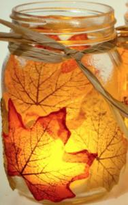 Candle Cheap Fall Decor Ideas. Maple Mason Jar