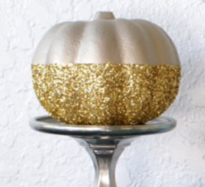 mini glitter pumpkin