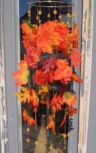 maple leaf wind chime