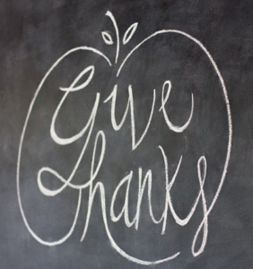 give thanks chalkboard sign