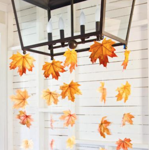 Hanging Fall Leaves Garland