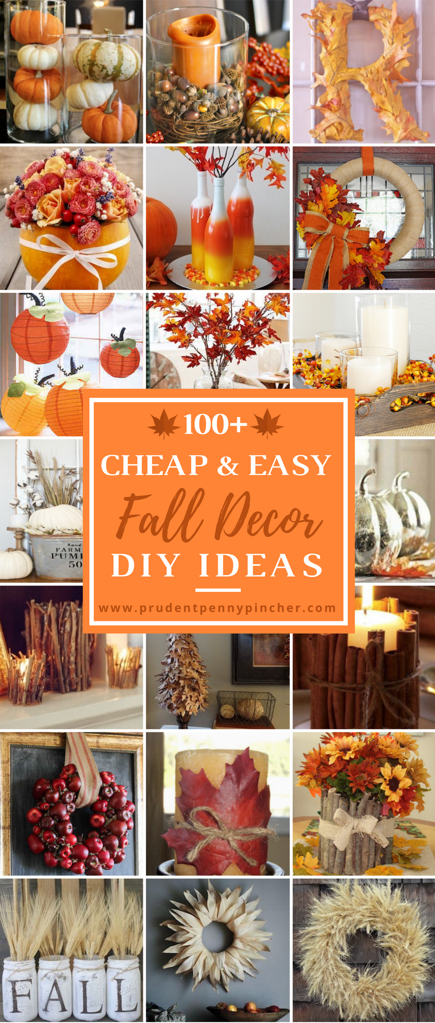 100 Cheap and Easy Fall Decor DIY Ideas - Prudent Penny Pincher