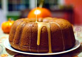 pumpkin cake apple glaze