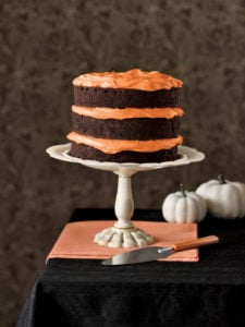 orange and black cake