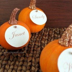 Glitter Top Pumpkin Placeholders