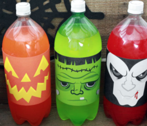 halloween soda labels 1