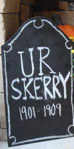 chalkboard tombstones