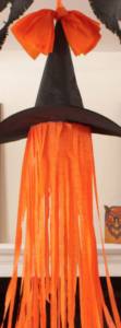 orange streamer witch hat