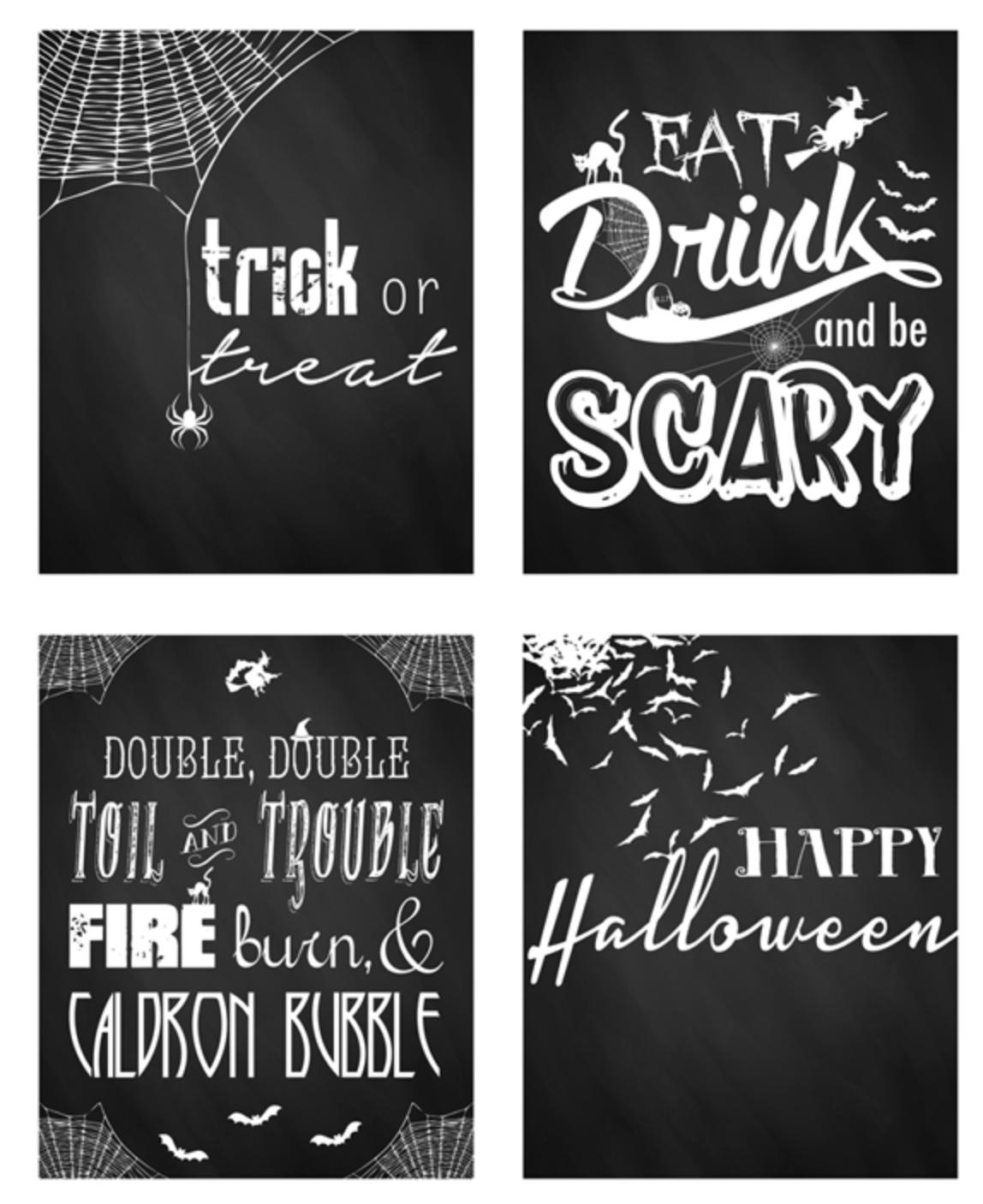 60 Free Printable Halloween Decorations