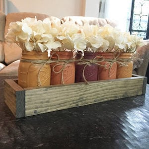 Mason Jar DIY Fall Centerpiece