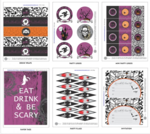 image about Free Printable Halloween Apothecary Labels identify 60 Cost-free Printable Halloween Decorations - Prudent Penny Pincher