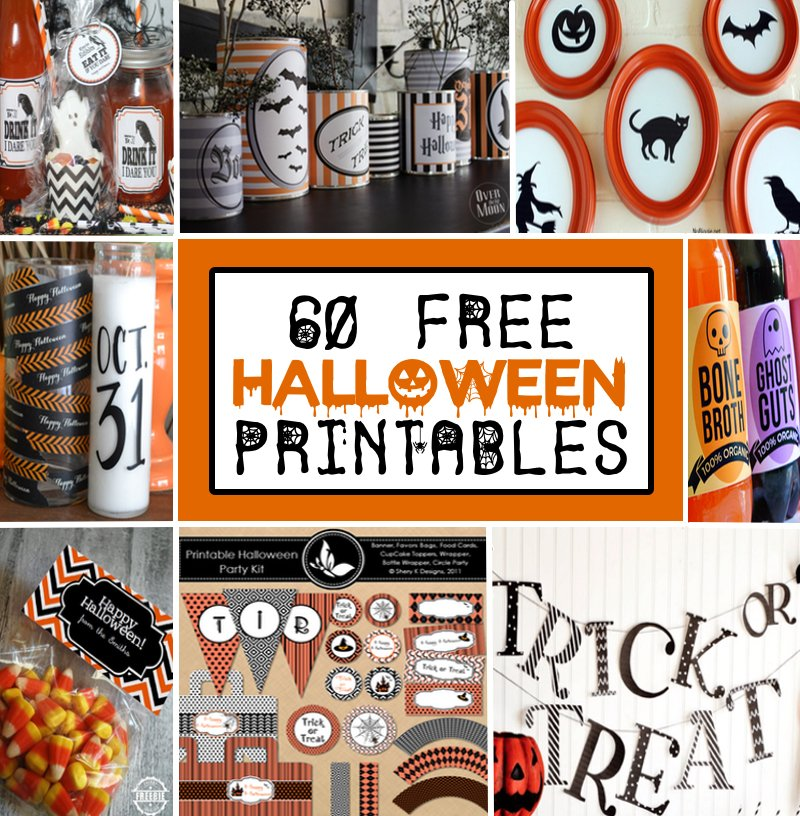 photograph relating to Printable Halloween Banners identified as 60 Totally free Printable Halloween Decorations - Prudent Penny Pincher