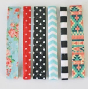 Patterned Hair Clips DIY Christmas Gift