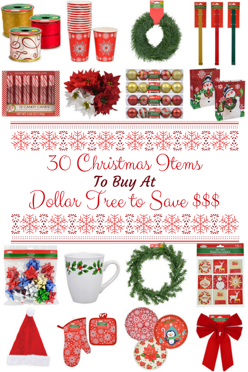 Fabulous 30 Christmas Items to Buy at the Dollar Tree To Save Money  WW69