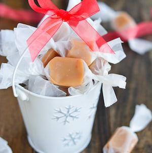 Homemade Christmas Caramels