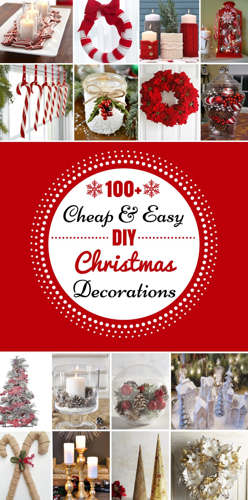 100 Cheap & Easy DIY Christmas Decorations - Prudent Penny ...