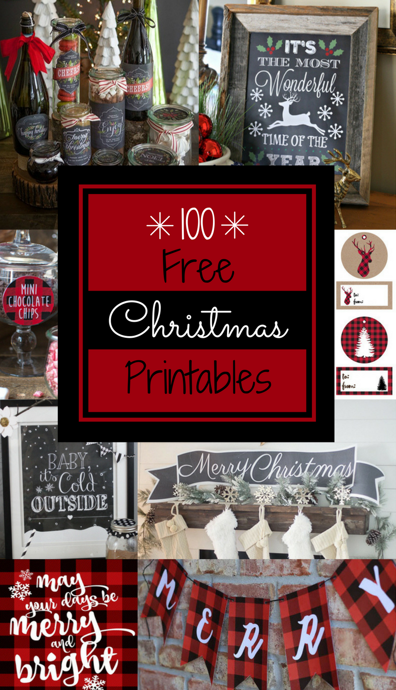 100 free christmas printables - prudent penny pincher