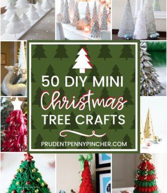 50 DIY Mini Christmas Tree Crafts
