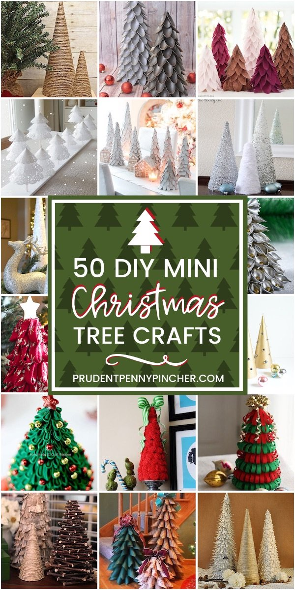 50 Diy Mini Christmas Tree Crafts Prudent Penny Pincher