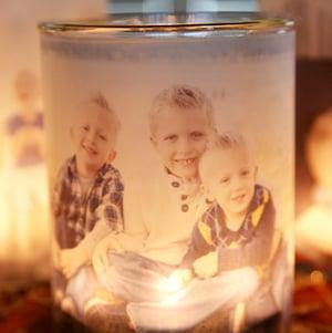 DIY Glowing Photo Luminaries christmas gift for mom