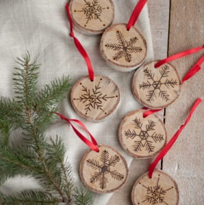 Etched Snowflake Ornament
