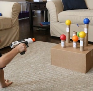 Knock the Balls Off Nerf Game