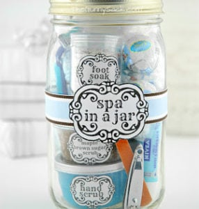 Spa Gift In A Jar DIY (with free printables)