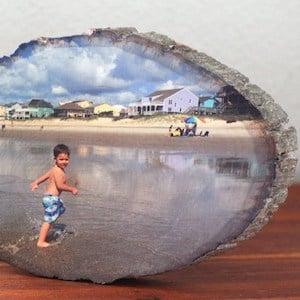 DIY Wood Slice Photo Transfer
