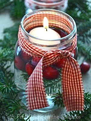 Simple and Pretty Christmas Candle
