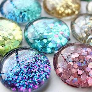 DIY Glitter Magnets