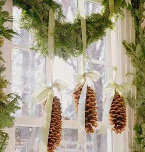 Christmas Banner Above Kitchen Window