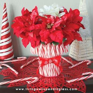 Candy Cane CenterpieceDIY Christmas Decoration