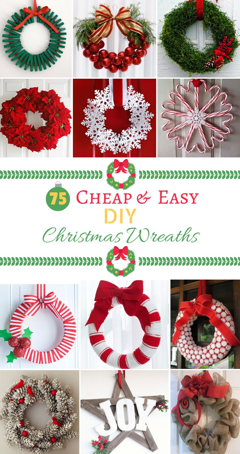 100 cheap and easy diy christmas wreaths prudent penny for Christmas decoration stuff