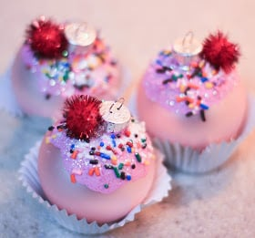 """Cupcake"" DIY Christmas Ornaments"