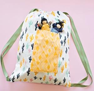 Drawstring Fabric Backpack