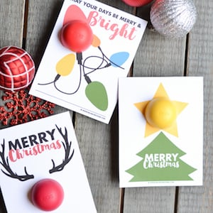 cute EOS Lip Balm Christmas Printable Gift