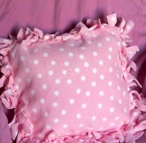 Fleece Tie Pillow for girls